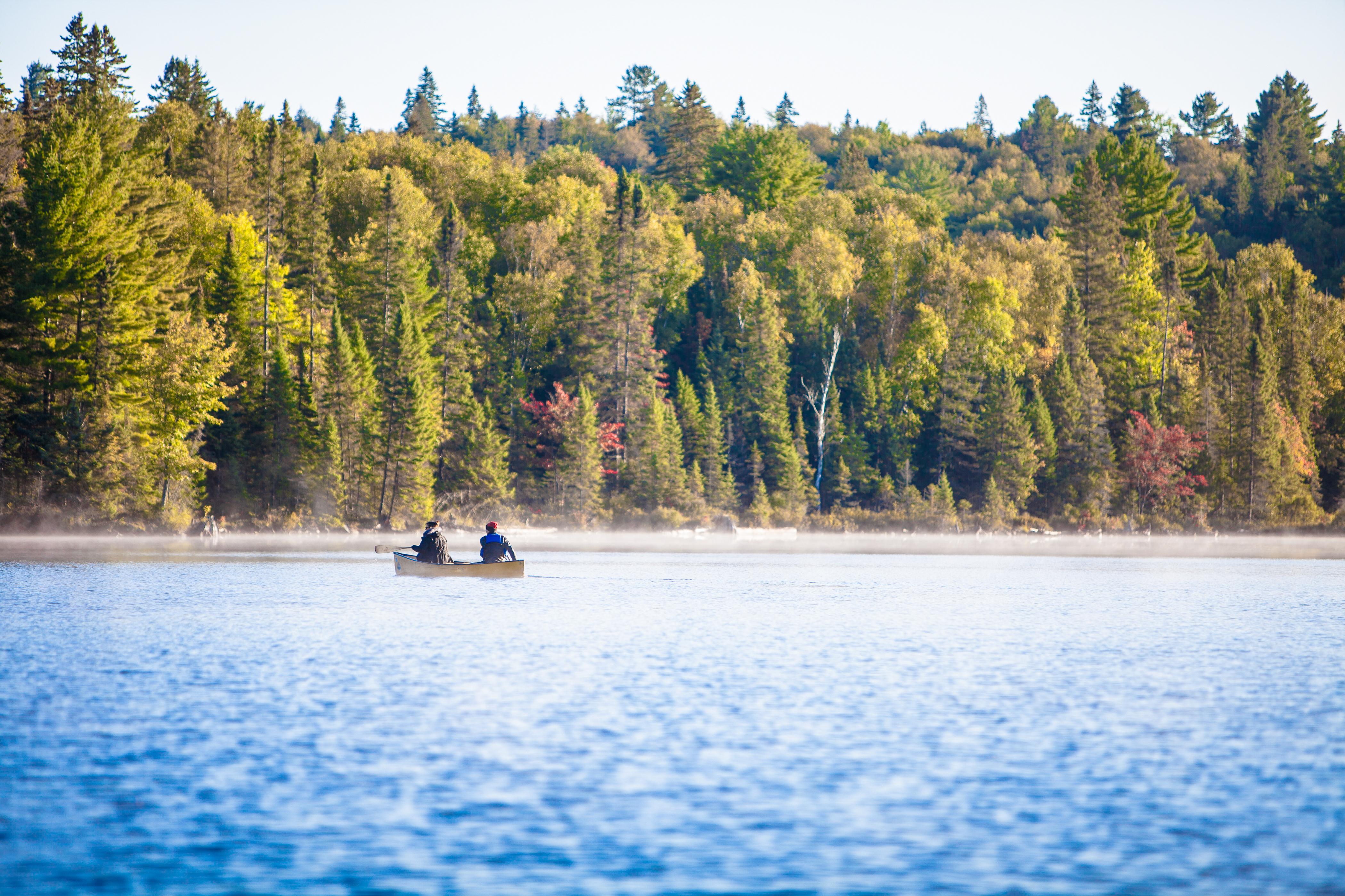 Canoeing on Lake Teepee