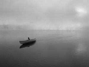 Canoe b&w